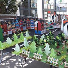 Maquettes en quartier pour construire un quartier